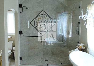 Manhattan Beach master bathroom shower enclosure