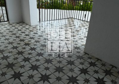Front Porch Tile Installation 91205