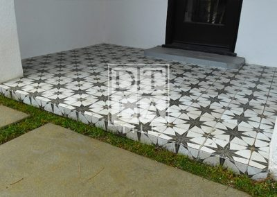 Porch Tile Installation using Star Tiles 91205