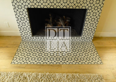 Top View of Tiled Fireplace in Redondo Beach 90278